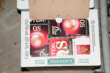 36 used VHS tapes, pre-recorded, sold as blanks TDK QS T-120 6 hrs EP