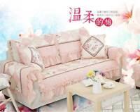 Feminine Cotton Door Floor Mat Rug Runner Sofa Couch Throw Carpet Frill Non-Slip