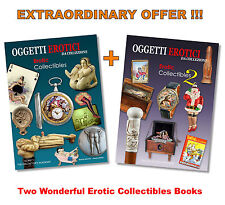 2 RARE EROTIC COLLECTIBLES BOOKS VOL 1-2 Antique Watches Toys Canes Pottery