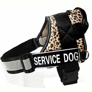 Large Dogs Harnesses Reflective Service Dog Vest Harness Removable label Patches