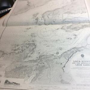 Map 1961 Admiralty chart Loch Kishorn approahces Loch Carron Plockton Village