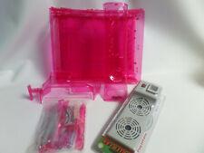 lot coque translucide rose pour XBox 360 et un ventilateur externe pour XBox 360