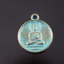 HOT SALE 6pcs Atq Bronze Vintage Alloy Buddha Round Pendant Charms 22*18*2mm