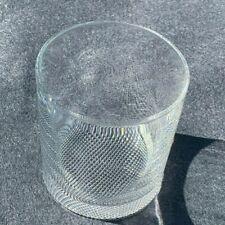 RIEDEL Crystal Rocks Glass Textured Crosshatch Diamond Texture Low Ball