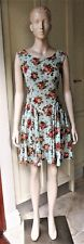 Lemisee! Australia A-Line Floral Gathered Dress 1950's Style Smart-Casual Size 8
