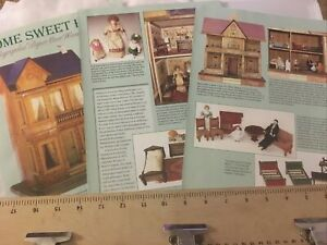 14 Page Doll History Article Home Sweet Home Lithographed Paper Wood Dollhouse
