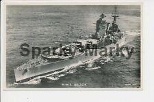 HMS Nelson Battleship Valentines RP Vintage Postcard C04
