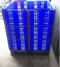 12 x Plastic Pallet Collars 1200 x 1000mm - Heavy Duty Collapsible Folding