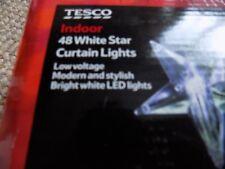 TESCO 48 WHITE STAR CURTAIN LIGHTS