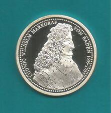 Wunderschöne-Silber-Medaille-Ludwig Wilhelm Markgraf von Baden-1995-999er Silber