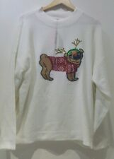 Primark Ladies Christmas  Dog Embroided OnThe Jumper  Brand New With Tags..