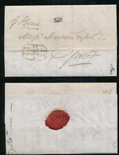 GB to PORTUGAL 1860 LETTER SHIP IBERIA + SEAL M G + Co...CLAY PIPES + FIGURES