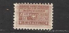 3173-SELLO FISCAL 1930 CAJA PENSIONES VEJEZ AHORRO BARCELONA 1 CENTIMO.ANTIGUO S