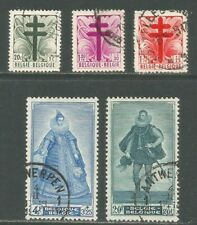 Belgium 1948 Medieval Rulers Semipostal-Attractive Topical (B462-66) fine used