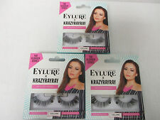 3 PAIRS EYLURE VLOGGER SERIES LASHES KRAZYRAYRAY VOLUME FALSE EYELASHES  EL 3405