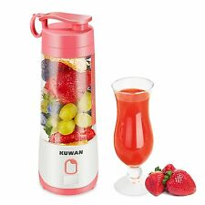 KUWAN USB Electric Portable Mini Fruit Juicer Fruit Blender 400ml Rechargeable