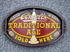 1960s  ORIGINAL HEAVY ENAMEL ANSELL'S TRADITIONAL ALES SIGN AND SURROUND Ansells
