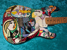 Pablo Picasso Fender Stratocaster Strat USA American vintage guitar painting wow