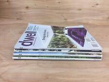Lot of 4 Dwell Magazine - Interior Design, Modern Architecture 2017