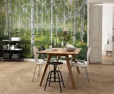 Bedroom wallpaper mural Sunny Day forest 368x254cm + adhesive trees photo wall