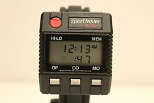 "VINTAGE RARE FINLAND DIGITAL MEN'S COMPUTER WATCH""POLAR"" SPORT TESTER PE 3000"