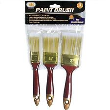 "3pc Paint Brush Set, 1"", 1-1/2"", 2"", Polyester Bristled Paint Brushes"