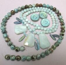 Stunning NEW LOT- Amazonite, African Jasper and Czech Fossil and Daggers
