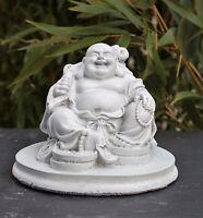 Steinfigur Buddha Statue Gartenfigur Gartendeko Glücksbuddha Steinguss frostfest