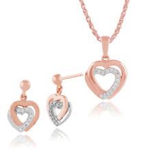 Gioielli di lusso tonda in oro rosa con diamante