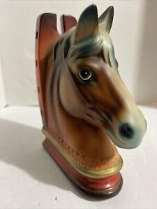 Norleans Ceramic Porcelain Horse Head Bookend Single Western Equestrian Decor