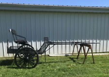 E-Z Trail Easy Entry Metal Horse Show Cart With Torsion Wheels Breaks Lights
