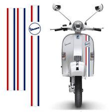Adesivi Vespa sticker Strisce francia flag scontornate cropped 3 pz
