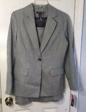 Gray Lined Two-Piece Skirt Suit Set By Ainsley & Aiden Size 8