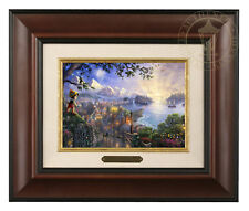 Thomas Kinkade Disney's Pinocchio Framed Brushwork (Burl Frame)