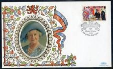 Isle of Man Silk Cover for  95th Birthday of HM The Queen Mother (2017/06/21#05)