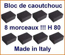 8 X bloc de caoutchouc 160x120x80 mm. pour Pont elevateur - Italie - tampons