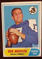 1968 Topps Don Meredith #25 Dallas Cowboys