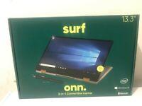 "Onn 2-In-1 Convertible Laptop, 13.3"" FHD Touchscreen, Intel Core i3, 128GB, 4GB"