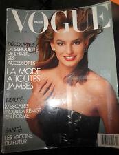 Vogue Paris 1987 Naomi Campbell Cindy Crawford Uma Thurman Guy Bourdin Madonna