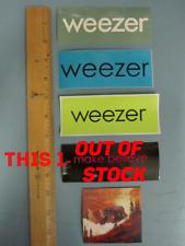 Weezer 4 vintage geffen/uni records promo sticker set New Old Stock Flawless