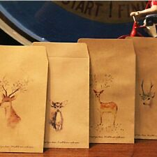 8Pcs Deer Paper Envelope 8 Designs Envelopes Vintage European For Card Gift
