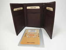 Western Express Brown Leather Men's Tri-fold Wallet-9 Cards, 1 ID #MIN-2305/BR