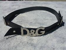 """dolce & gabbana black leather belt med fits 29-33 , 1 """" wide"""
