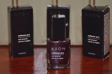 Avon NIGHT VIOLET dark purple Nailwear Pro Nail Enamel Polish Lot of 3 NEW Boxed
