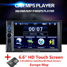 "6.6"" HD Touch MP5 Stereos/Head Units Bluetooth USB Navigation (Free Europe Map)"