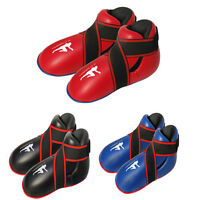 Kick boxing boots full contact foot pads rex leather thai boxing tae-kwondo mma