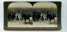 Vintage Stereoview Imperial Russian Troops Military Review World War I Tsar