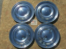 """1951 LINCOLN COSMOPOLITAN 15"""" WHEEL COVERS, HUBCAPS SET OF 4 ~EXTREMELY RARE~"""