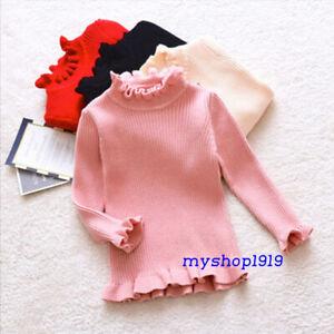 Girls Top Winter Autumn Long Sleeve Blouse Sweater School Sleeve Age 2-10 years
