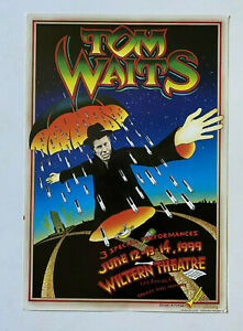 Tom Waits Poster Tutes SIGNED by Clifton Original 1999 Wiltern Original GREAT